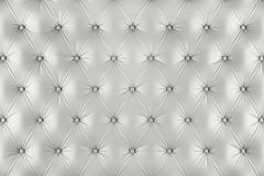 English ivory genuine leather upholstery, chesterfield style background Royalty Free Stock Photo