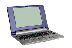 English-Japanese electronic dictionary. Isolated over white background.Double clipping path (for the whole object and for the display) included in the file Stock Photography