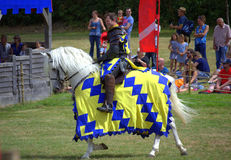 English Knight Hever Castle Jousting Tournament Royalty Free Stock Photos