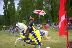 English Knight Hever Castle Jousting Tournament Royalty Free Stock Images