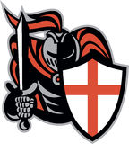 English Knight With Sword England Shield Retro Stock Images