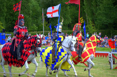 English Knights Hever Castle Jousting Tournament Stock Image