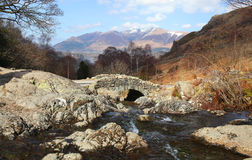 The English Lake District. Ashness Bridge in the English Lake District Royalty Free Stock Photo