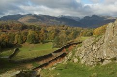 The English Lake District in Autumn (Fall). The Autumn (fall) Lake District Stock Photography