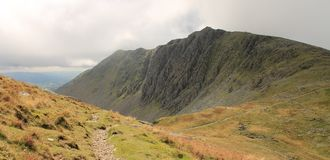 Dow Crag Lake District National Park Cumbria mountain landscape Royalty Free Stock Photo