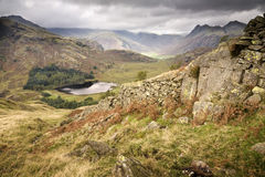 English Lake District. This is the Langdale Valley in the English Lake District viewed from Lingmoor Fell Stock Photo