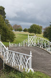 English landscape. Bridge over countryside river Stock Photo