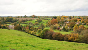 English Landscape in Autumn. Landscape View of Somerset Countryside in Autumn Stock Photos