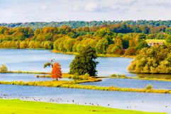 English landscape in autumn Royalty Free Stock Photo