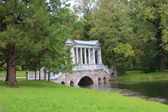 English landscape garden in Tsarskoye Selo. Russia Royalty Free Stock Photo