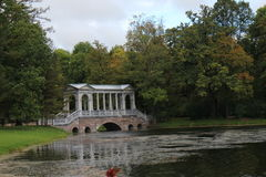 English landscape garden in Tsarskoye Selo. Russia Royalty Free Stock Image