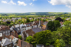 English landscape from Lewes Castle. Lewes, East Sussex, England Stock Images