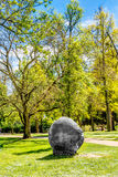 English landscape park. Art in the English landscape park in Wiesbaden Stock Photography