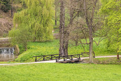 English landscape park. Or garden in Prague, Czech Republic Royalty Free Stock Images