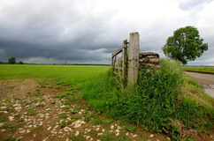 English landscape with thunderstorm. A photo of  the English landscape with thunderstorm Stock Images