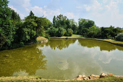English landscaped garden in the park of Versailles Palace Stock Photography