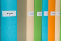 English Language Book Stock Images