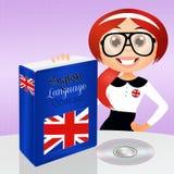 English language course. Funny illustration of English course Stock Images
