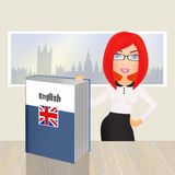 English language course. Illustration of English language course Stock Image