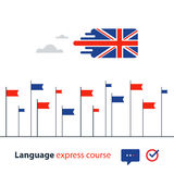 English language courses advertising concept. Fluent speaking foreign language Royalty Free Stock Image