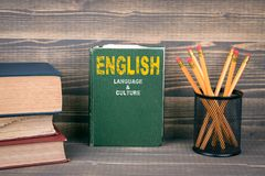 English language and culture concept Stock Photo