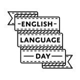 English Language day greeting emblem Royalty Free Stock Photography
