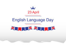English Language Day stock illustration