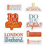 English Language School Royalty Free Stock Photos