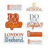 English Language School Royalty Free Stock Photos