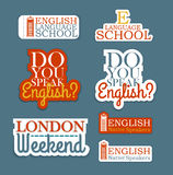 English Language Set Stock Images