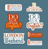 English Language Set Stock Images