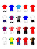 English Clubs Kits 2013-14 Premier League Royalty Free Stock Photography