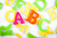 English learning. Abc in colorful letters for english learning Stock Images