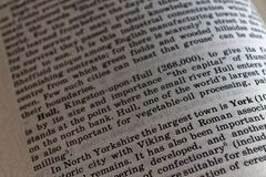 English learning definition of the word with vignetting effect. royalty free stock image