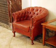 English leather armchair Stock Image