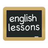 English Lessons Chalkboard EPS Royalty Free Stock Image