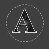 English letter A Royalty Free Stock Images