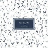 English letter pattern. Stock Photo