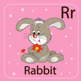 The English letter R and a rabbit Royalty Free Stock Photography