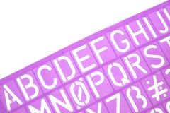 English Letters Plastic Stencils Alphabet Royalty Free Stock Image