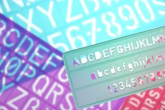 English Letters Plastic Stencils Alphabet Royalty Free Stock Photos