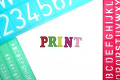 English Letters Plastic Stencils Alphabet Stock Images