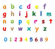 English letters a to z. A set of English letter from a to z  and 0 to 9 numeric Stock Photography
