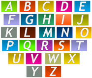 ENGLISH LETTERS A TO Z. An illustration image is colorful abcd alphabets chat Royalty Free Stock Photography