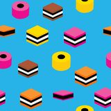 English Licorice Seamless Pattern Colorful Candy Repeat Pattern Background for Textile Design, Fabric Printing, Stationary, Packag vector illustration