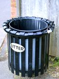 English Litter Bin. Litter Bin (Trash Can) from England Stock Images