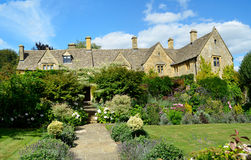 English manor with flower garden Royalty Free Stock Image