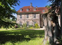 English Manor House and Garden Stock Photos
