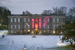 English Manor House in the Snow Stock Photos