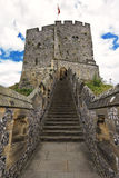English medieval castle of Arundel the seat of the Dukes of Norfolk. Ancient stone fortification from middle ages (UK). English medieval castle of Arundel the royalty free stock photos